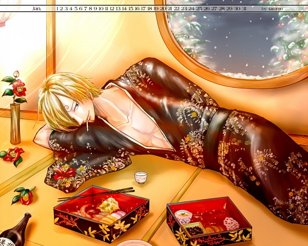 Tags: Anime, Pixiv Id 2309538, ONE PIECE, Sanji, Fanart From Pixiv, Calendar (Source), One Piece: Two Years Later, Fanart, Pixiv