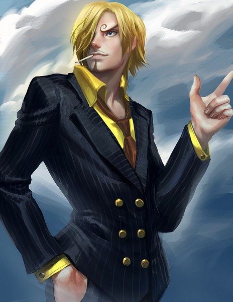 Tags: Anime, Sakimichan, ONE PIECE, Sanji, Pinstripe Suit, One Piece: Two Years Later, Tumblr, Fanart