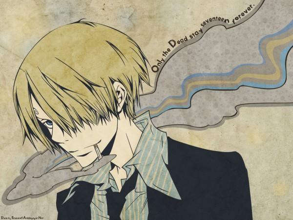 Tags: Anime, Amano Akira, ONE PIECE, Sanji, Wallpaper