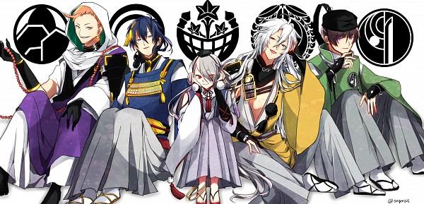 Tags: Anime, Pixiv Id 14249802, Touken Ranbu, Imanotsurugi, Mikazuki Munechika, Kogitsunemaru, Iwatooshi, Pixiv, Fanart, Fanart From Pixiv, PNG Conversion, Sanjou School