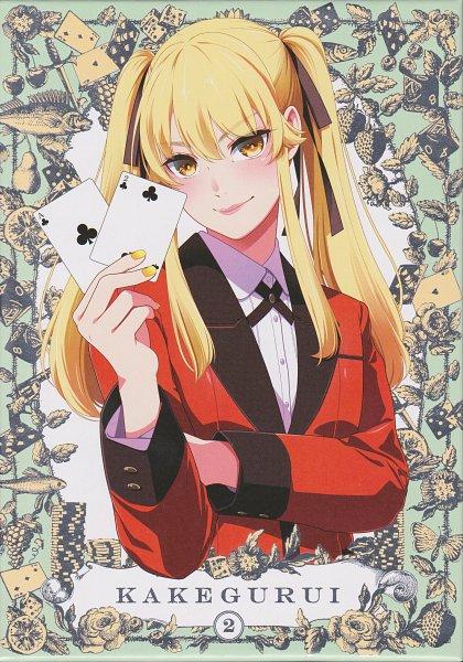 Tags: Anime, Naomura Tooru, Akita Manabu, MAPPA, Kakegurui, Saotome Mary, Clubs (Card), Poker, DVD (Source), Official Art, Scan