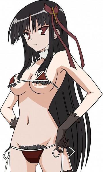 Tags: Anime, Kore wa Zombie Desuka, Saraswati, Frilled Bikini, Vector, Mobile Wallpaper