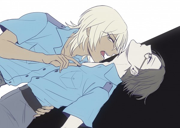 Tags: Anime, Pixiv Id 5433381, Sarazanmai, Akutsu Mabu, Niiboshi Reo, ReoMabu