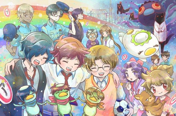 Tags: Anime, Pixiv Id 1831246, Sarazanmai, Jinnai Enta (Kappa), Yasaka Kazuki, Azuma Sara, Jinnai Enta, Akutsu Mabu, Kuji Toi (Kappa), Niiboshi Reo, Kuji Toi, Kuji Chikai, Keppi