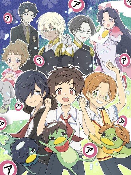 Tags: Anime, Pixiv Id 25995905, Sarazanmai, Akutsu Mabu, Kuji Toi (Kappa), Niiboshi Reo, Kuji Toi, Kuji Chikai, Keppi, Yasaka Kazuki (Kappa), Yasaka Haruka, Jinnai Enta (Kappa), Yasaka Kazuki