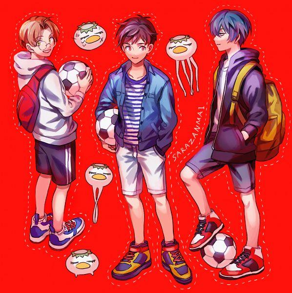 Tags: Anime, Pixiv Id 40289522, Sarazanmai, Yasaka Kazuki, Keppi, Jinnai Enta, Kuji Toi, Kappa, Fanart, Fanart From Pixiv, Pixiv