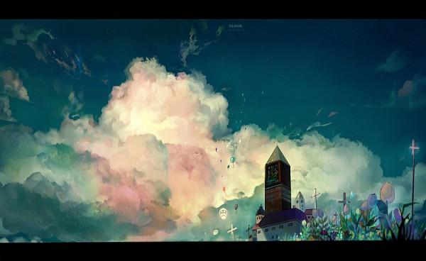 Tags: Anime, Sarnath, Tower, No Character, Pixiv, Original