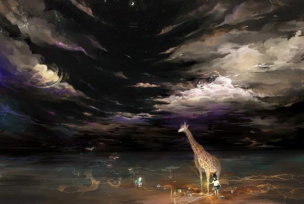 Tags: Anime, Sarnath, Giraffe, Pixiv, Original