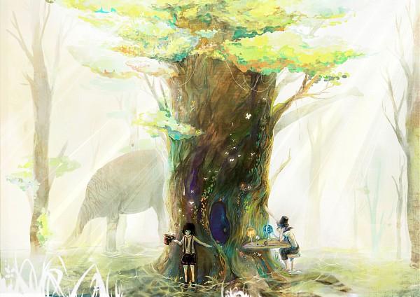 Tags: Anime, Sarnath, Elephant, Dinosaur, Pixiv, Original