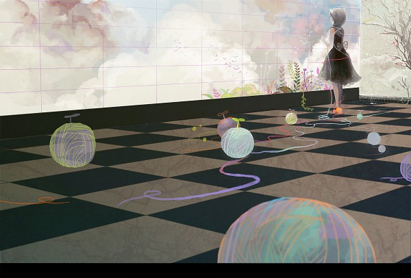 Tags: Anime, Sarnath, Ball of Yarn, Pixiv, Original
