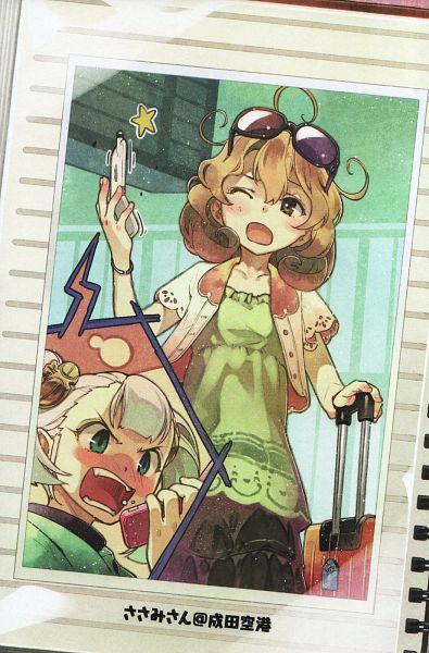 Tags: Anime, Hidari, Sasami-san@Ganbaranai, Edogawa Jou, Tsukuyomi Sasami, Official Art, Scan, Novel Illustration