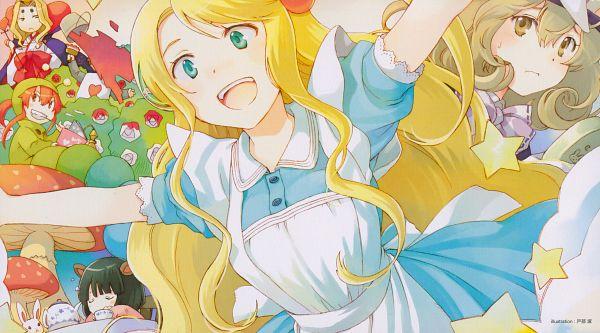 Tags: Anime, Tobe Sunaho, Sasami-san@Ganbaranai, Tsukuyomi Kamiomi, Yagami Tama, Yagami Kagami, Yagami Tsurugi, Tsukuyomi Juju, Tsukuyomi Sasami, Alice in Wonderland (Parody), End Cards, Sasami-san@Ganbaranai - End Cards, Scan