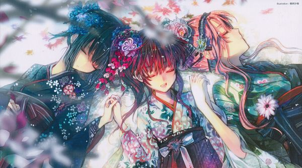 Tags: Anime, Ukai Saki, Sasami-san@Ganbaranai, Yagami Tama, Yagami Kagami, Yagami Tsurugi, Scan, Wallpaper, Facebook Cover, End Cards, Sasami-san@Ganbaranai - End Cards