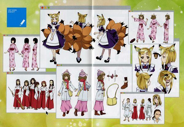 Tags: Anime, Sasami-san@Ganbaranai, Tsukuyomi Juju, Yagami Kagami, Tsukuyomi Sasami, Tsukuyomi Ruza, Tamamo no Mae (Sasami-san), Scan