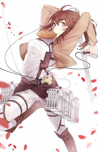 Tags: Anime, Naguri, Attack on Titan, Sasha Braus, Fanart, Fanart From Pixiv, Mobile Wallpaper, Pixiv, Sasha Blouse
