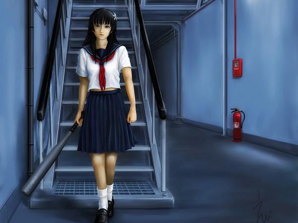 Tags: Anime, To Aru Majutsu no Index, To Aru Kagaku no Railgun, Saten Ruiko, Fire Extinguisher, Artist Request