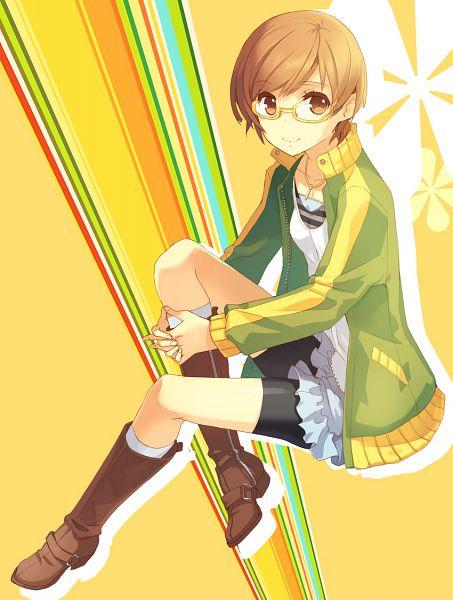 Tags: Anime, H2SO4, Shin Megami Tensei: PERSONA 4, Satonaka Chie, Fanart, Pixiv