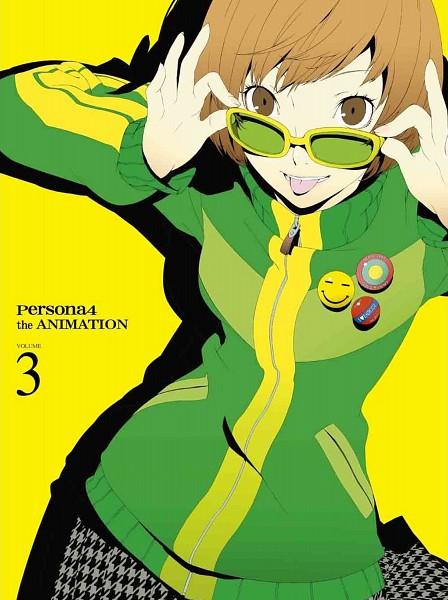 Tags: Anime, Soejima Shigenori, Shin Megami Tensei: PERSONA 4, Satonaka Chie, Scan, Official Art, DVD (Source)