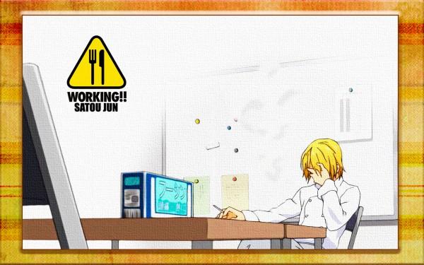 Tags: Anime, Adachi Shingo, A-1 Pictures, Working!!, Satou Jun, Wallpaper, Official Art