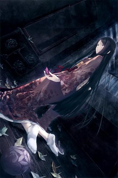 Tags: Anime, Sugina Miki, Innocent Grey, Kara no Shoujo 2, Satsuki (Kara no Shoujo 2), Origami, Scan