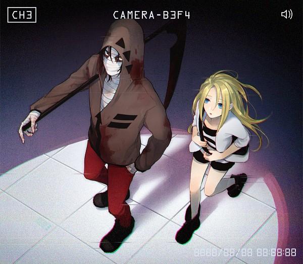 Tags: Anime, Pixiv Id 17008400, Satsuriku no Tenshi, Isaac Foster, Rachel Gardner, Bandaged Head, Fanart, Fanart From Pixiv, Pixiv, Angels Of Death