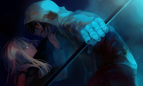 Tags: Anime, Pixiv Id 303184, Satsuriku no Tenshi, Isaac Foster, Rachel Gardner, Pixiv, Wallpaper, Angels Of Death