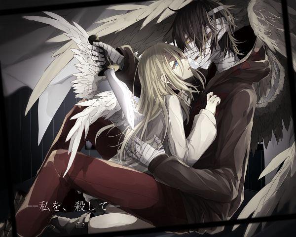 Tags: Anime, Pixiv Id: 60152247, Satsuriku no Tenshi, Rachel Gardner, Isaac Foster, Taped Mouth, Tape, Angels Of Death