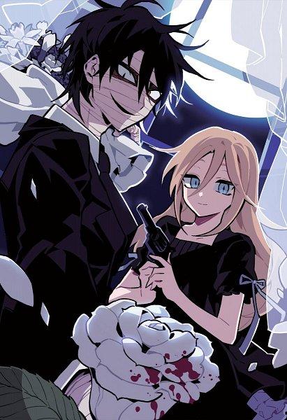 Tags: Anime, Satsuriku no Tenshi, Rachel Gardner, Isaac Foster, Artist Request, Angels Of Death