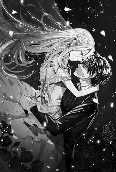 Tags: Anime, Pixiv Id 18300658, Satsuriku no Tenshi, Rachel Gardner, Isaac Foster, Fanart From Pixiv, Pixiv, Fanart, Angels Of Death