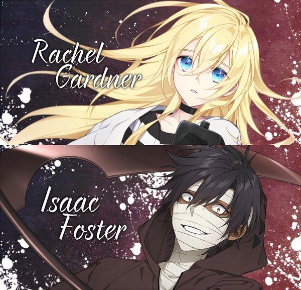 Tags: Anime, Pixiv Id 548175, Satsuriku no Tenshi, Rachel Gardner, Isaac Foster, Fanart From Pixiv, Pixiv, Fanart, Angels Of Death