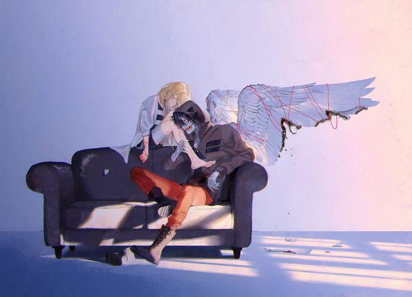 Tags: Anime, vient, Satsuriku no Tenshi, Isaac Foster, Rachel Gardner, Twitter, Fanart, Angels Of Death