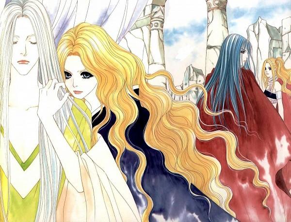 Tags: Anime, Saver (series), Sharis, Michael, Lena (Saver), Elinar