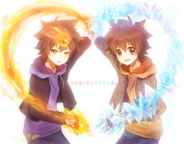 Tags: Anime, Akarii, Katekyo Hitman REBORN!, Sawada Tsunayoshi, Dying Will Flame, Fanart From Pixiv, Fanart, Pixiv