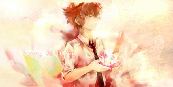 Tags: Anime, Pixiv Id 1537403, Katekyo Hitman REBORN!, Sawada Tsunayoshi, Pixiv, Facebook Cover, Fanart