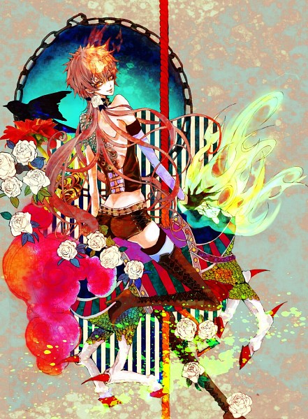 Tags: Anime, Pixiv Id 573568, Katekyo Hitman REBORN!, Sawada Tsunayoshi, Faun, Carousel, Pixiv