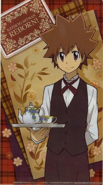 Tags: Anime, Tanaka Masayoshi, Katekyo Hitman REBORN!, Sawada Tsunayoshi, Mobile Wallpaper, Official Art