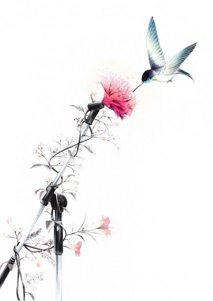Tags: Anime, Sawasawa, Hummingbird, Pixiv, Original, Mobile Wallpaper