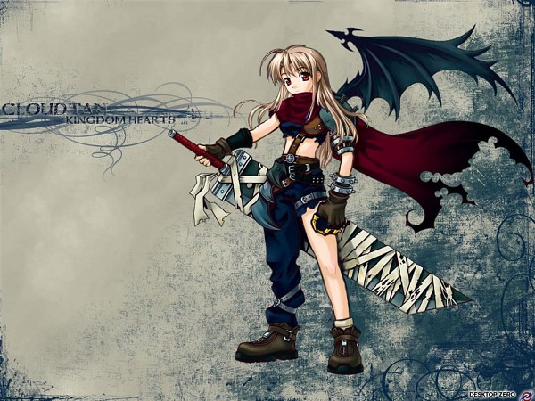Tags: Anime, Kingdom Hearts, Pia Carrot, Sayaka Takai, Cloud Strife (Cosplay), Wallpaper