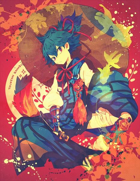 Tags: Anime, Yumenouchi, Touken Ranbu, Sayo Samonji, Brown Hat, Brown Headwear, Japanese Armor, Tantou, Fanart, Fanart From Pixiv, Pixiv