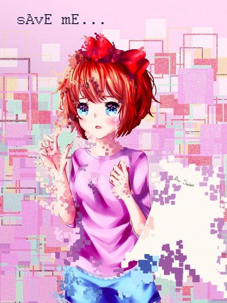 Tags: Anime, Chiito-chan, Doki Doki Literature Club!, Sayori (Doki Doki Literature Club!), Pixels, deviantART, Fanart