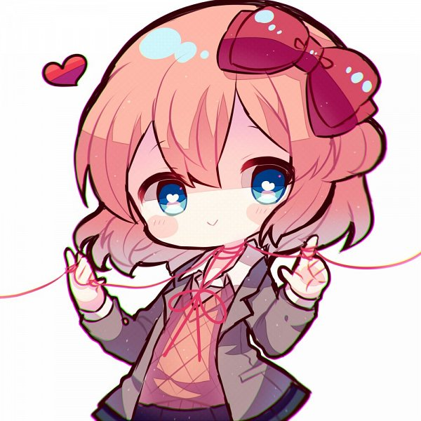 Tags: Anime, Haru (kyo413), Doki Doki Literature Club!, Sayori (Doki Doki Literature Club!), :>