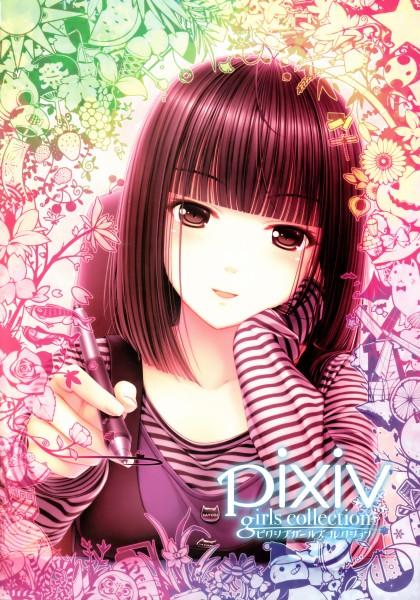 Tags: Anime, Sayori, Pixiv Girls Collection, NEKO WORKs 01, Sayori (Personification), Wacom, Drawing (Action), Mobile Wallpaper, Pixiv