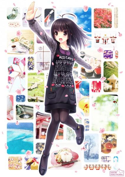 Tags: Anime, Sayori, Sayori (Personification), Sushi, Pixiv, Mobile Wallpaper