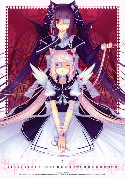 Tags: Anime, Sayori, NEKO BIBLE, Neko Para, Vanilla (Neko Para), Chocola (Neko Para), Gothic Outfit, Scan, Comic Market 76, Comic Market 77, Mobile Wallpaper, Calendar 2010
