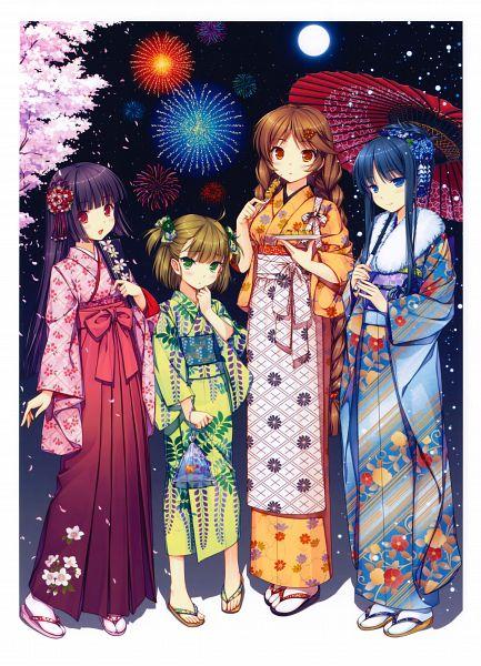 Tags: Anime, Sayori, Eshi 100-Nin Ten 02, Weather (Personification), Scan, Mobile Wallpaper