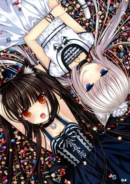 Tags: Anime, Sayori, NEKO PARADISE, Neko Para, Chocola (Neko Para), Vanilla (Neko Para), Pixiv, Comic Market 76, Mobile Wallpaper