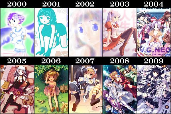 Tags: Anime, Sayori, NEKO PARADISE, Vanilla (Neko Para), Chocola (Neko Para), Pixiv, Artist Evolution, Sound Horizon
