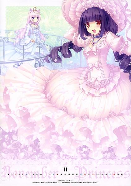 Tags: Anime, Sayori, NEKO BIBLE, Vanilla (Neko Para), Chocola (Neko Para), Calendar 2010, Original, Mobile Wallpaper, Scan, Comic Market 76, Comic Market 77, Pixiv