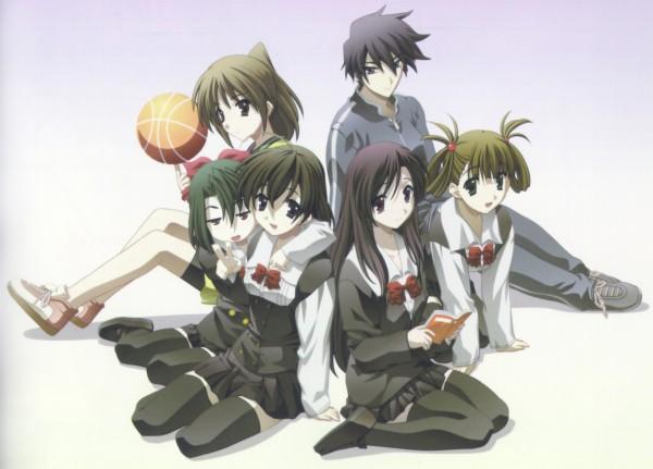 Tags: Anime, School Days, Itou Makoto, Otome Katou, Saionji Sekai, Kiyoura Setsuna, Katsura Kotonoha, Official Art