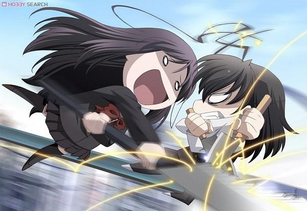 Tags: Anime, School Days, Katsura Kotonoha, Saionji Sekai, Lucha